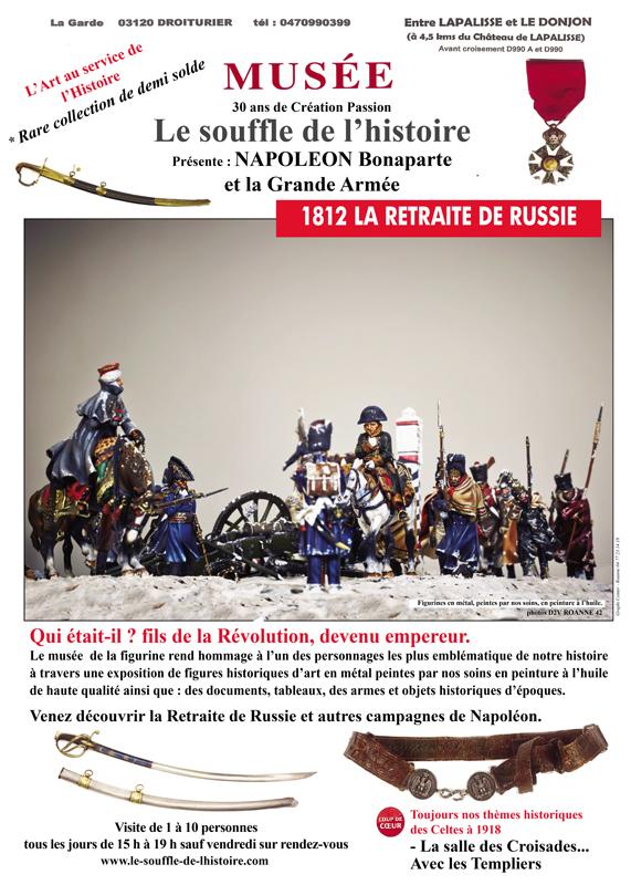 Exposition Napoléon Bonaparte et la Grande Armée - Centre Historique du Bourbonnais - Le Souffle de l'Histoire - Musée de la Figurine à Droiturier Allier